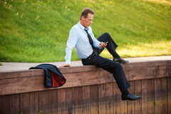 Relaxing after hard working day. Royalty Free Stock Photography