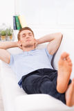 Relaxing after hard working day. Stock Image