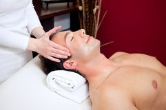 Relaxing head massage Royalty Free Stock Photos
