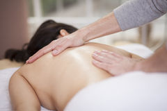 Relaxing at a health spa Royalty Free Stock Photography