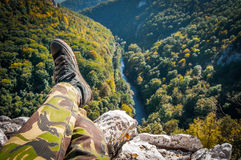 Relaxing Hiker Stock Image