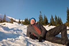 Relaxing hiker Stock Photos