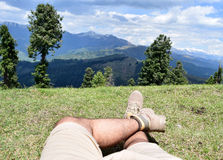 Relaxing on the Hilltop! Royalty Free Stock Photo