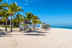 Relaxing holidays in tropical paradise. Mauritius island. Royalty Free Stock Photography