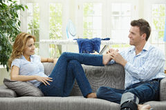 Relaxing at home Royalty Free Stock Images