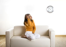 Relaxing at home Royalty Free Stock Photo