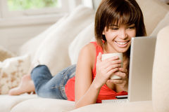 Relaxing At Home Royalty Free Stock Image