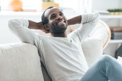 Relaxing at home. Stock Photos