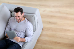 Relaxing at home Stock Image