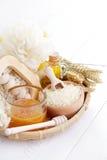 Relaxing honey bath Royalty Free Stock Image