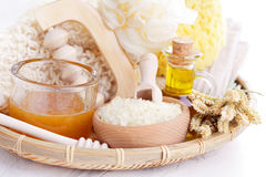 Relaxing honey bath Stock Photography