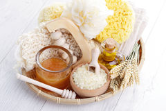 Relaxing honey bath Stock Image