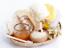 Relaxing honey bath Royalty Free Stock Photography