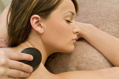 Relaxing Hot Stone Massage royalty free stock images