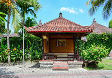 A relaxing house at the luxury hotel in Bali, Indonesia Royalty Free Stock Images