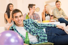 Relaxing At House Party Royalty Free Stock Photography