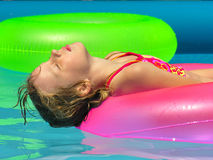 Free Relaxing In The Pool Stock Photo - 856070
