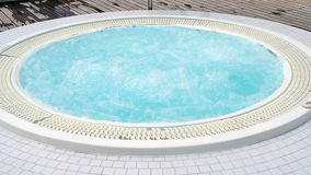 Relaxing jacuzzi outdoor stock footage