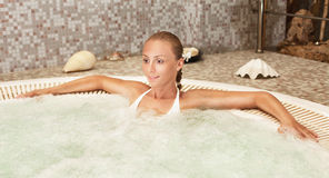 Relaxing in the Jacuzzi Royalty Free Stock Photo