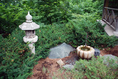 Relaxing Japanese Garden. Tranquil and relaxing Japanese gardens at the Minnesota Arboretum Royalty Free Stock Photo