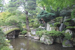 Relaxing japanesse garden Stock Images