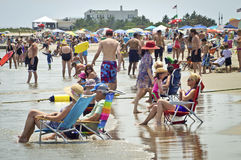 Relaxing Jersey Shore Stock Image