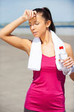Relaxing after jog. Royalty Free Stock Images