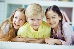 Relaxing kids Stock Photo
