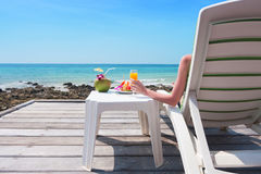 Relaxing in koh larn Royalty Free Stock Photography