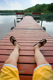 Relaxing by the Lake Royalty Free Stock Images