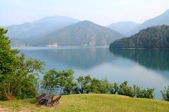 Relaxing on lake Stock Photos