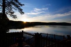 Relaxing Lake house view Royalty Free Stock Images