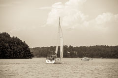 Relaxing on lake keowee in sout carolina Stock Photography