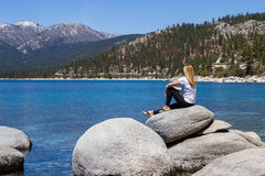 Relaxing in Lake Tahoe Royalty Free Stock Images