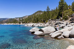 Relaxing in Lake Tahoe Royalty Free Stock Photography