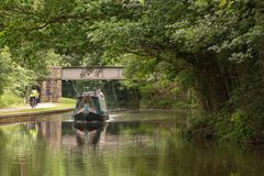 Relaxing on the Leeds and Liverpool Canal royalty free stock photo