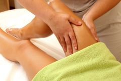 Relaxing leg massage Stock Image