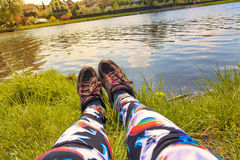 Relaxing legs Royalty Free Stock Image