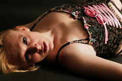 Relaxing in Lingerie Royalty Free Stock Images