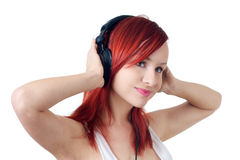Relaxing! Listening music Royalty Free Stock Photo