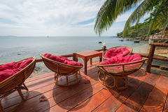 Relaxing lounge by the sea Royalty Free Stock Photography