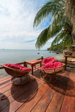 Relaxing lounge by the sea Stock Photo