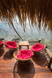 Relaxing lounge by the sea Stock Image