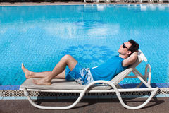 Relaxing in luxury hotel Stock Photography