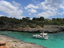 Relaxing in the Majorca Coast Royalty Free Stock Photo