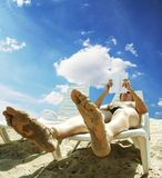 Relaxing man Royalty Free Stock Photo