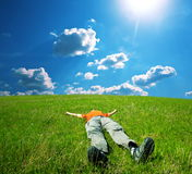Relaxing man Stock Photo