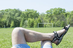 Relaxing man Royalty Free Stock Images