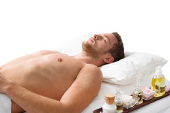 Relaxing man in Spa Royalty Free Stock Photography