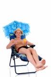 Relaxing man, vacation Royalty Free Stock Photos